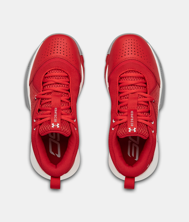 Boty Under Armour GS SC 3ZER0 IV-RED (5)