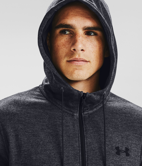 Mikina Under Armour DOUBLE KNIT FZ HOODIE-GRY (5)