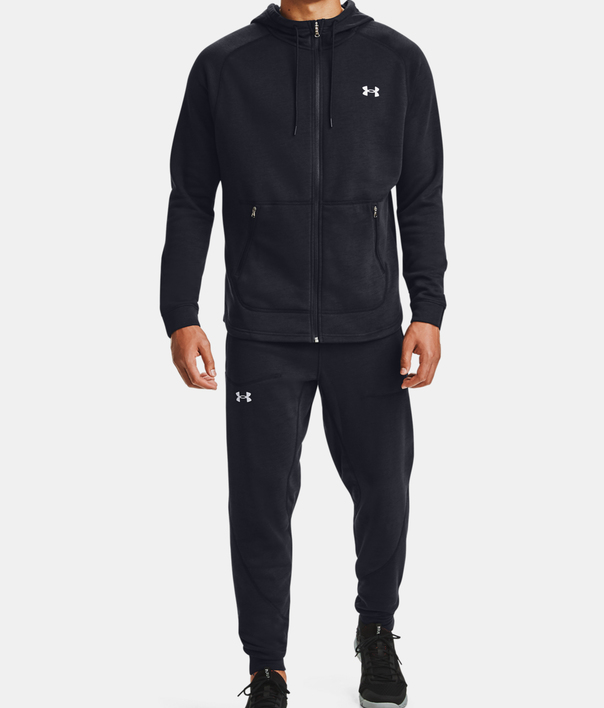Mikina Under Armour Charged Cotton FLC FZ HD-BLK (4)