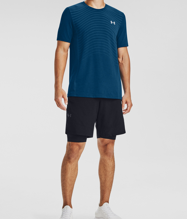 Tričko Under Armour UA Seamless Wave SS-BLU (3)