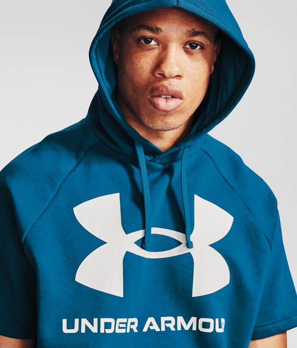 Mikina Under Armour Rival Flc Big Logo SS HD-BLU (6)