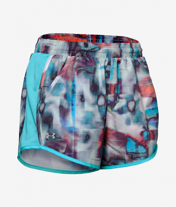 Kraťasy Under Armour Fly By Printed Short-Wht (3)