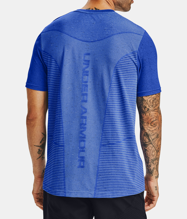 Tričko Under Armour Seamless Logo SS-BLU (2)