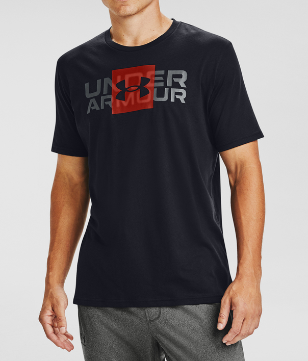 Tričko Under Armour UA BOX LOGO WORDMARK SS-BLK (5)