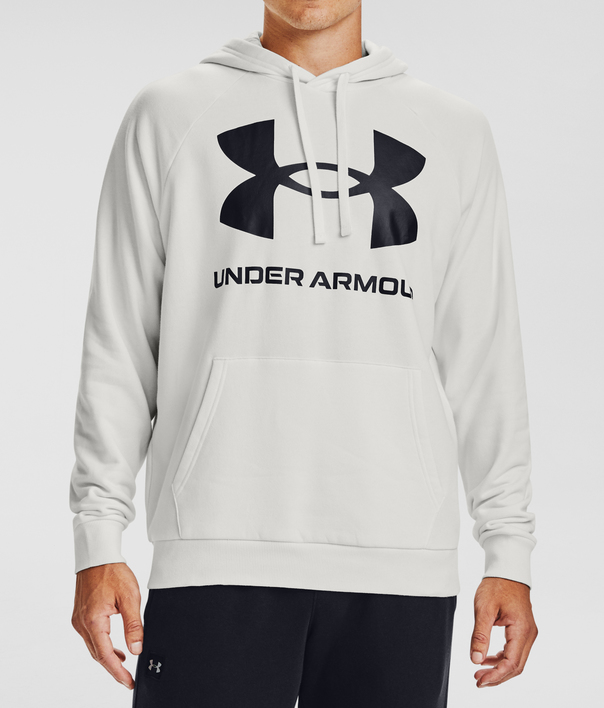Mikina Under Armour Rival Fleece Big Logo HD-WHT (1)