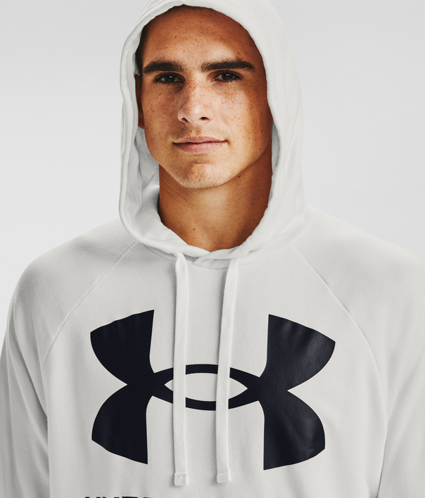 Mikina Under Armour Rival Fleece Big Logo HD-WHT (5)