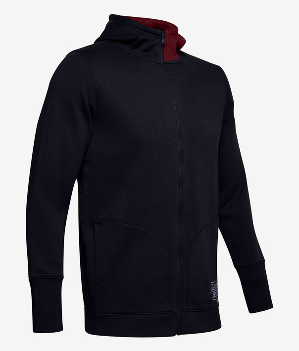 Mikina Under Armour Baseline Fleece Fz Hood (2)
