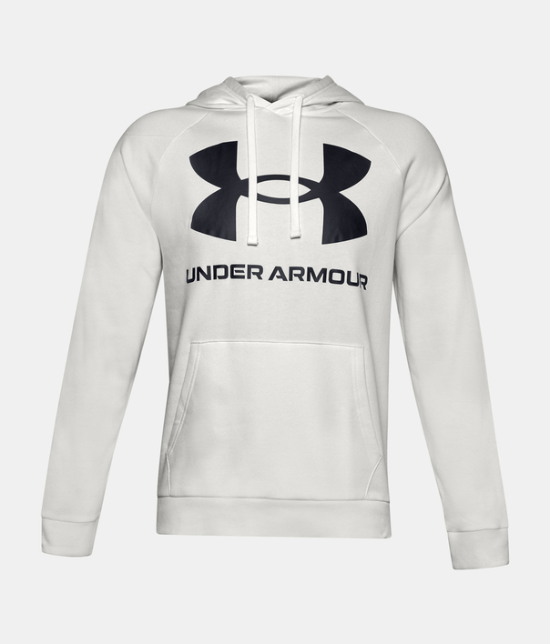 Mikina Under Armour Rival Fleece Big Logo HD-WHT (3)