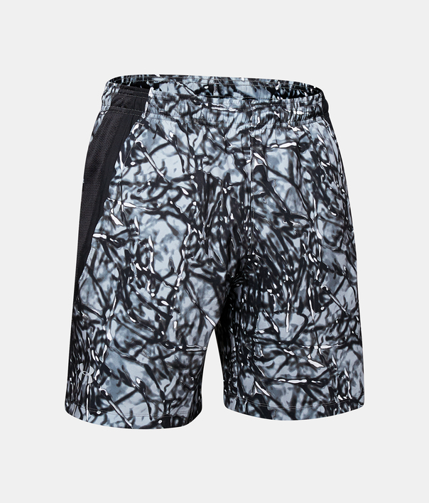 Kraťasy Under Armour LAUNCH SW 7'' PRINTED SHORT-BLK (4)