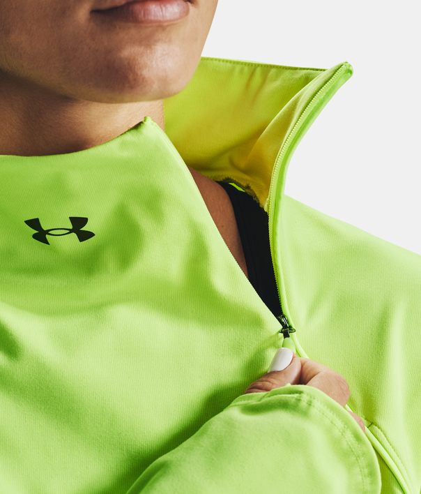 Tričko Under Armour CG Rush 1/2 Zip-GRN (5)