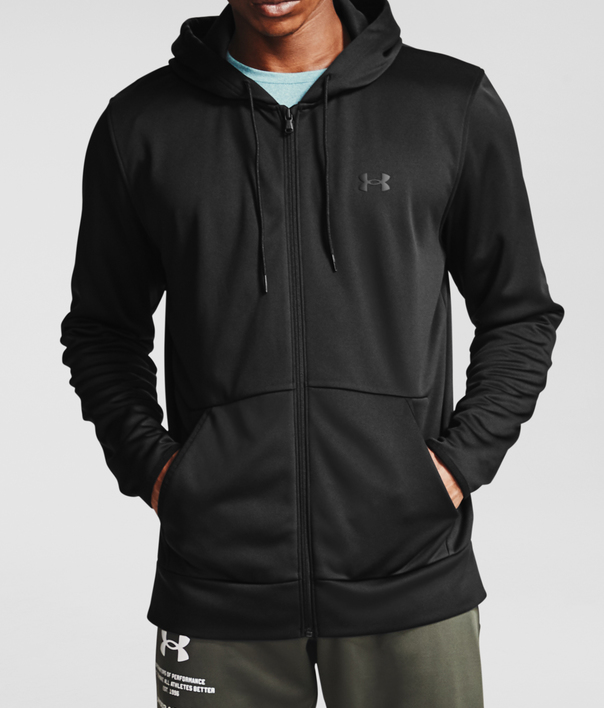 Mikina Under Armour UA Armour Fleece FZ Hoodie-BLK (4)
