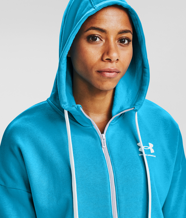 Mikina Under Armour Rival Fleece FZ Hoodie-BLU (4)