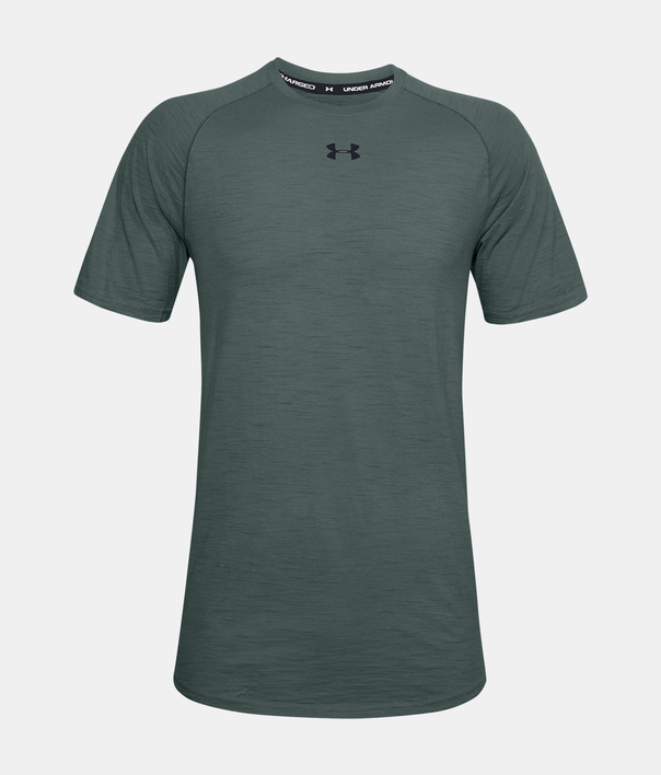 Tričko Under Armour UA Charged Cotton SS-BLU (1)