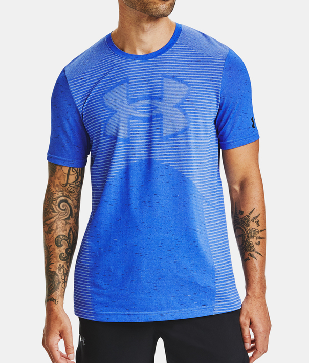 Tričko Under Armour Seamless Logo SS-BLU (1)