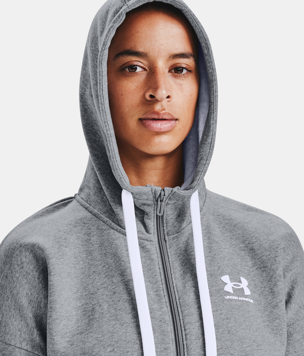 Mikina Under Armour Rival Fleece FZ Hoodie-GRY (3)