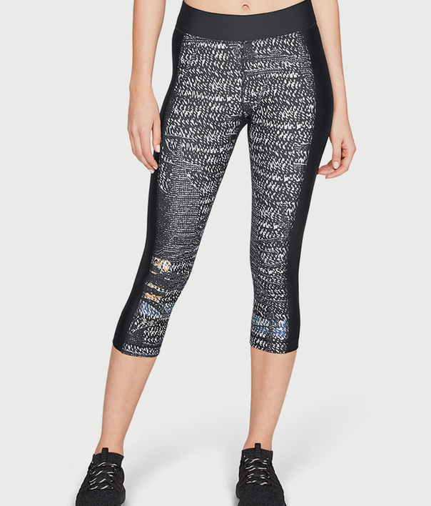 Kompresní legíny Under Armour HG Print Capri (1)