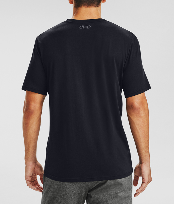Tričko Under Armour UA BOX LOGO WORDMARK SS-BLK (2)