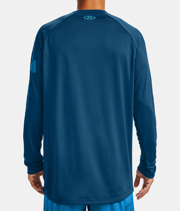 Tričko Under Armour GRADIENT LOGO TECH LS-BLU (2)