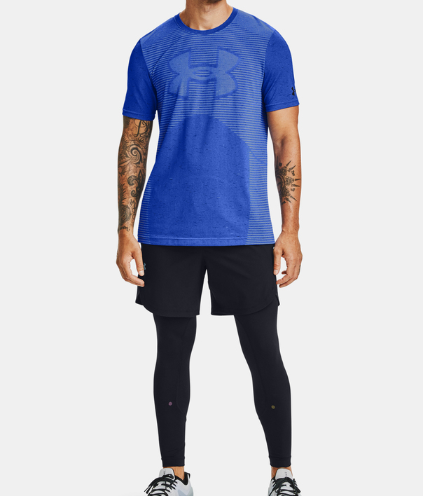 Tričko Under Armour Seamless Logo SS-BLU (6)