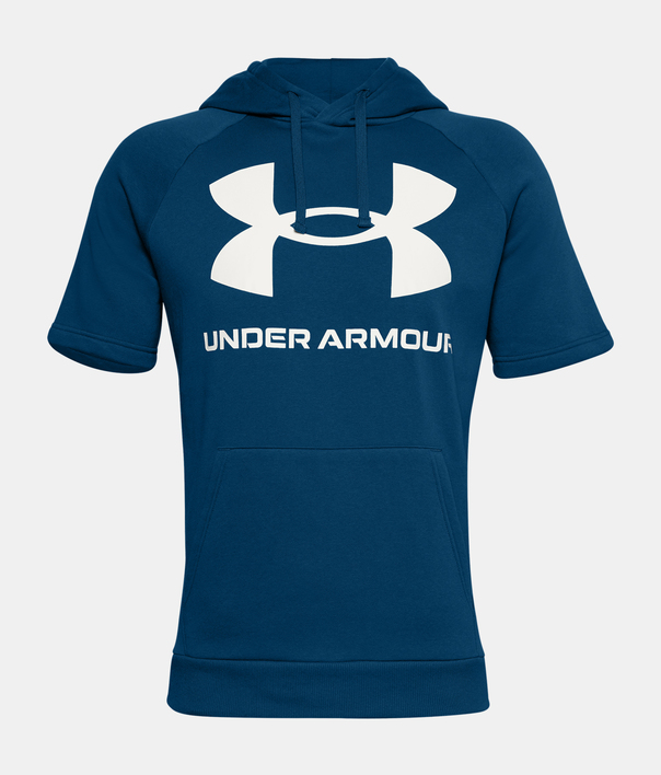 Mikina Under Armour Rival Flc Big Logo SS HD-BLU (3)