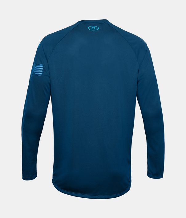 Tričko Under Armour GRADIENT LOGO TECH LS-BLU (4)