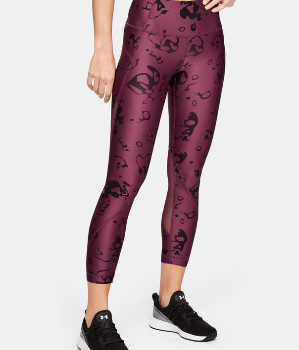 Legíny Under Armour HG Armour Ankle Crop - Ako Print-Purp (1)