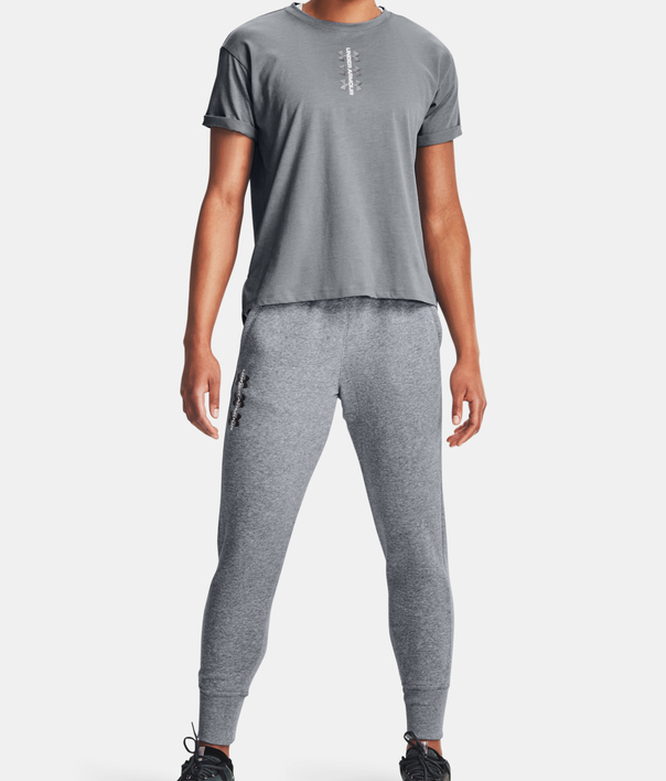 Kalhoty Under Armour Rival Fleece Pants-AMP-GRY (4)