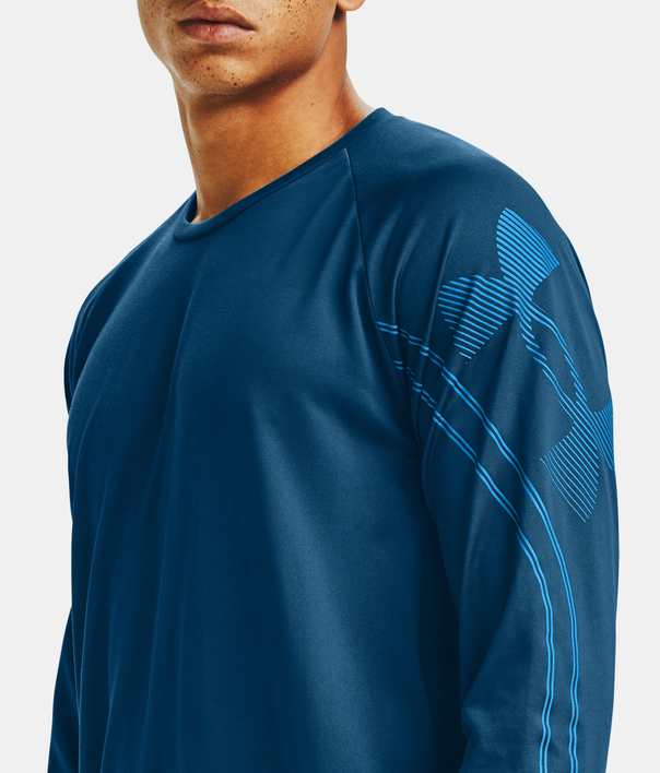 Tričko Under Armour GRADIENT LOGO TECH LS-BLU (6)