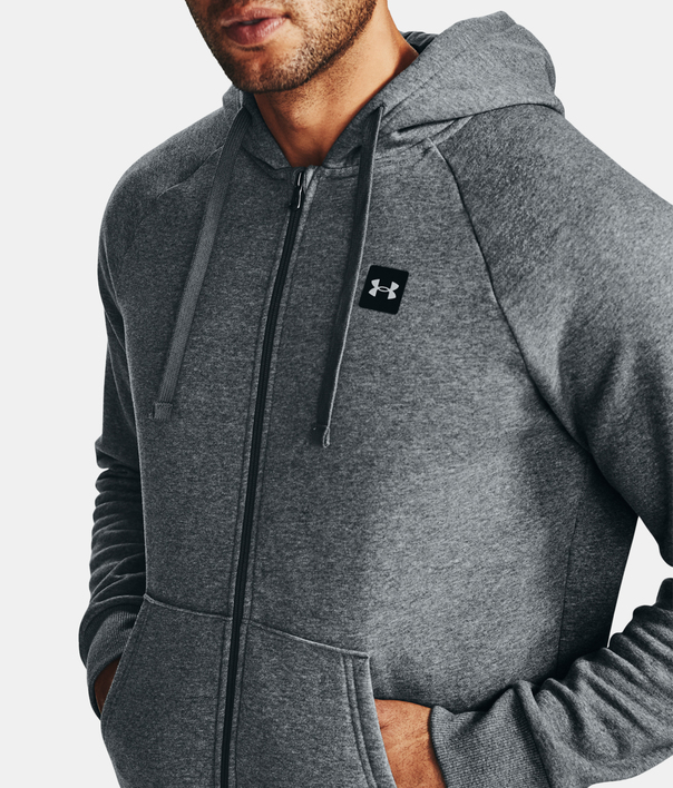 Mikina Under Armour UA Rival Fleece FZ Hoodie-GRY (1)