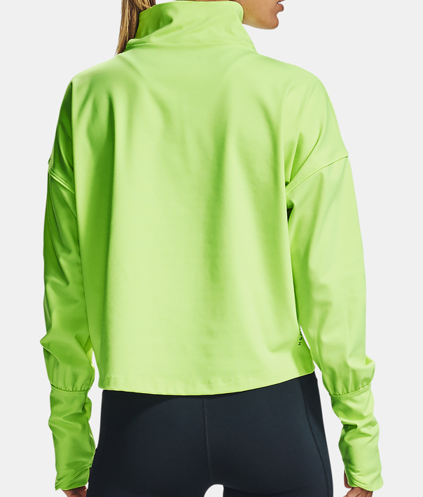 Tričko Under Armour CG Rush 1/2 Zip-GRN (2)