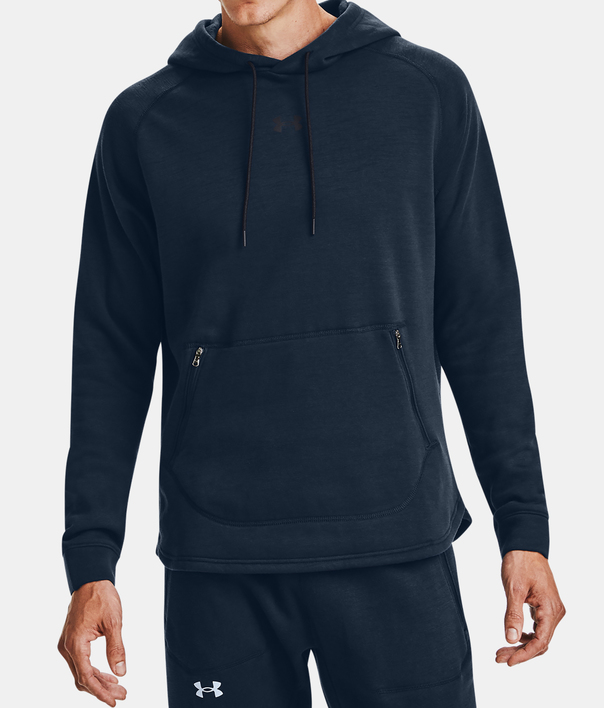 Mikina Under Armour Charged Cotton Fleece HD-NVY (1)