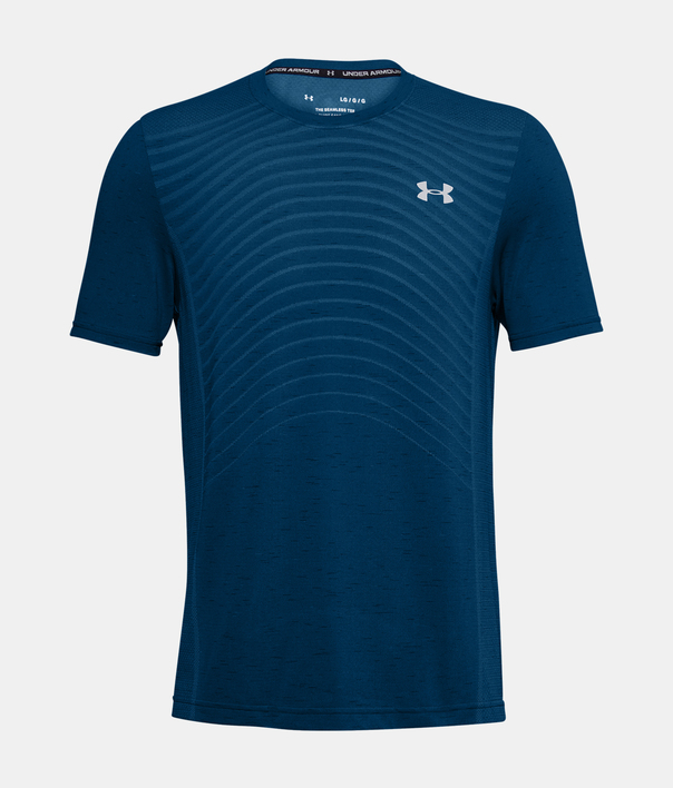 Tričko Under Armour UA Seamless Wave SS-BLU (1)