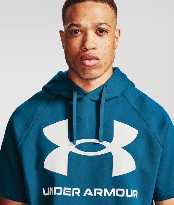 Mikina Under Armour Rival Flc Big Logo SS HD-BLU (5)