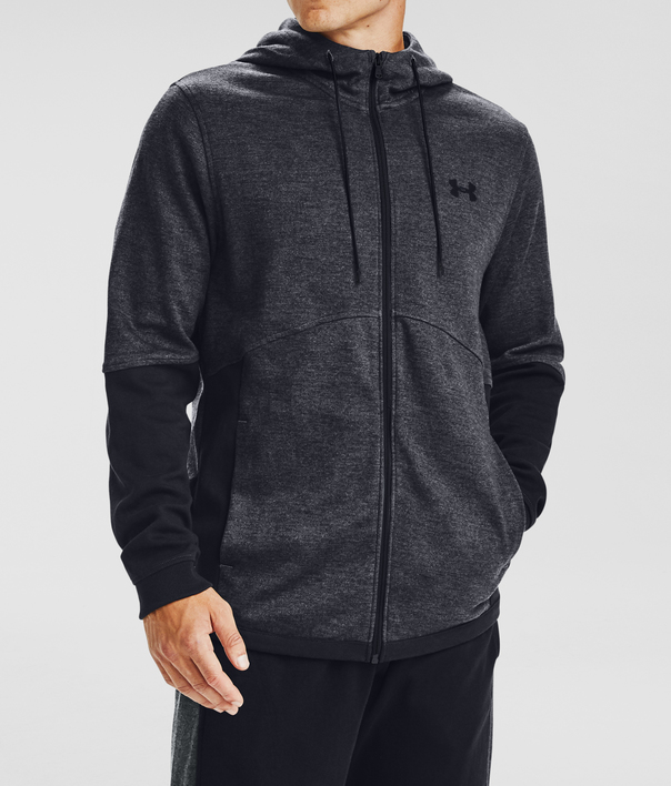 Mikina Under Armour DOUBLE KNIT FZ HOODIE-GRY (3)