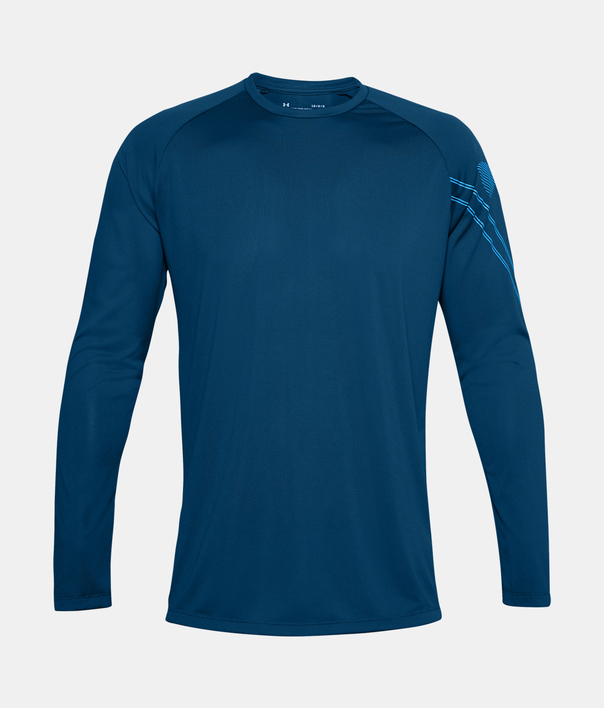 Tričko Under Armour GRADIENT LOGO TECH LS-BLU (3)